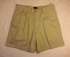 Dockers 34 Men's Pleated Cotton Beige Golf Casual Dress Shorts