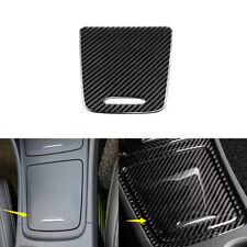 Carbon Fiber Console Storage Box Panel Trim For Mercedes-Benz GLA CLA Class13-18