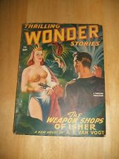 Thrilling Wonder Stories for February 1949 Vintage Pulp Magazine Cover Art
