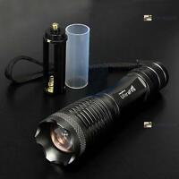8000LM CRAE T6 LED Zoomable Flashlight Torch Lamp Light 18650/AAA Camping AE