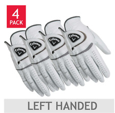 Mens Leather Golf Gloves Wear On Right Hand Medium 4 Pack Left Handed Player