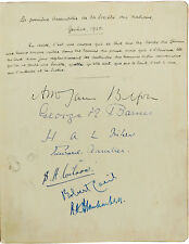 1920 League of Nations - SIGNATURES of FIRST ASSEMBLY -  CHINA Wellington Koo