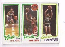 1980-81 TOPPS #41 - #127 PHIL FORD / #19 JOHN DREW TL / #209 LARRY KENON