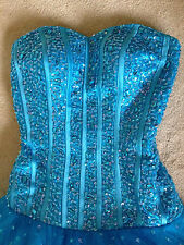 Brand New Blue Princess Dress Size 8 Wedding Evening Ball Prom Gown