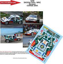 DECALS 1/24 REF 1048 SKODA FABIA WRC ALEXANDRE BENGUE TOUR DE CORSE 2005 RALLY