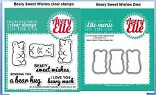Avery Elle Photopolymer Clear Stamp + Dies ~ BEARY SWEET WISHES  ~ST/D-15-45