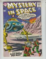 "Mystery In Space 45 VG+ (4.5) DC! 8/58 ""Flying Saucers Over Mars!"" Gray-tone cvr"