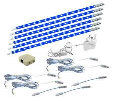 6 x LED Under Cabinet Light Kitchen Cupboard Striplights 300mm BLUE