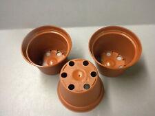 100 2 1/4 Inch Terra Cotta Plastic African Violet/Streptocarpus Pots