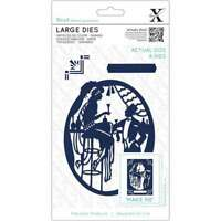 Xcut Decorative Dies Large 4/Pkg Art Deco Bar 499994963833