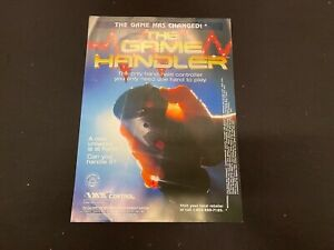 """The Game Handler Advert 18x13"""" Display Promo POSTER Authentic"""