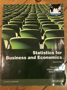 Statistics for Business and Economics by B Thorne, W Carlson, P Newbold. 8th Ed.