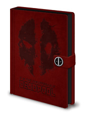 A5 Premium Deadpool Notepad Journal Pad Marvel Comics Leather Look Film Gift