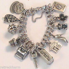 ❤JAMES AVERY CHARM BRACELET 12-4 RETIRED HEAVY CURB SILVER NEW JUST MADE JA BOX❤