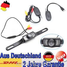 Auto Rückfahrkamera 7 LED Nachtsicht 170° Nummernschildkamera + GPS Funkgerät