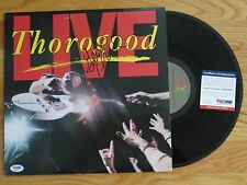 GEORGE THOROGOOD & the DESTROYERS signed LIVE 1986 Record PSA / DNA