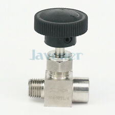 "1/4"" NPT Female to Male Needle Valve 304 Stainless Steel Flow Control"