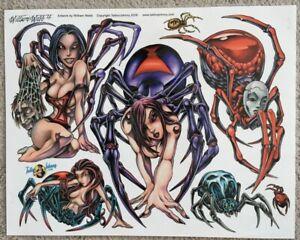 "Tattoo Studio Shop Flash Single By William Webb Spider Pin Up Girl 11""X14"" Print"