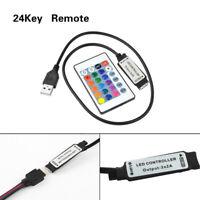 1M USB Connect 24key IR Remote Controller For SMD 3528 5050 LED Strips DC5V-24V