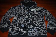 Limited Edition Men's Nike Graffiti Scribble Zip Hoodie Sweatshirt (Large)