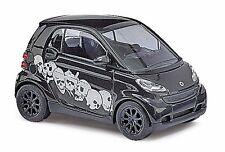 HO 1/87 Busch # 46129 Smart Car Fortwo Black w/white Skull Graphics