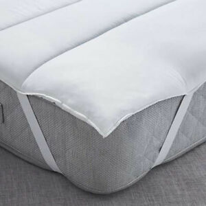 "3"" DEEP LUXURY SOFT DEEP SLEEP HOLLOWFIBRE MATTRESS TOPPER ENHANCER - MADE IN UK"