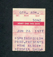 1977 Alice Cooper Burton Cummings concert ticket stub Calgary Lace and Whiskey