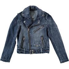 DIESEL Designer Blue Denim Biker Jacket Size 8 years