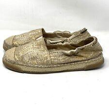 Sperry Top-Sider Gold Animal Print Jute Slip-On Espadrille Flats Shoes Women 8.5