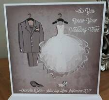 Handmade Personalised Wedding Vow Renewal Card Vintage Design