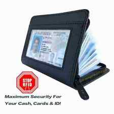 RFID Block Protect Shield Wallet Card Holder For Business Credit Cards