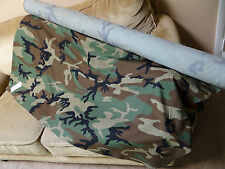 AUTHENTIC, FROM THE U.S MILITARY WOODLAND CAMOUFLAGE FABRIC, $ 10.50 PER YARD.