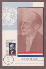 US # 1275 UN Ambassador Adlai Stevenson Colorano Maxi Card - I Combine S/H