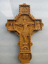 Handmade Greek Orthodox Wax Cross Carved From Mount Athos Byzantine Style 232