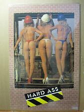 Hard ASS Hot girls man cave car garage Vintage Poster 603