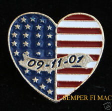 9-11 HEART USA FLAG NY WA PA US JEWELRY HAT PIN L@@K