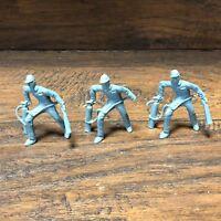 Original 1960 Marx Atomic Missile Play Set 3 BLUE MEN ~ playset action figures