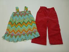 GAP Girls Size 2T Knit Dress & Corduroy Pink Pants Lot Great Condition