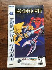 Robo Pit RoboPit Sega Saturn Game Instruction Manual Only