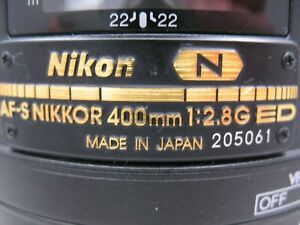 Nikon AF-S Nikkor 400mm 1:2.8 G ED Lens