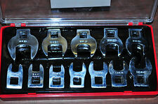 "CROW FOOT WRENCH 12 PCS 3/8"" DRIVE METRIC SET 8 MM TO 19 MM  I CROWFOOT SET"