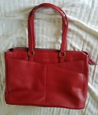 Cole Haan flight attendant exclusive Tote Bag Laptop Purse Leather Red travel