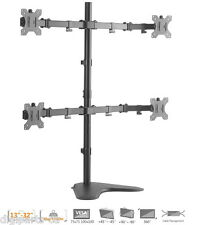 "Economy Quad Free standing Monitor Stand Mount for Monitors Up to 32""  (80-164)"