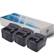 Lot de 3 batteries 14.4V 3000mAh pour Metabo SSW 14.4 LT/LTX 6.02126.85