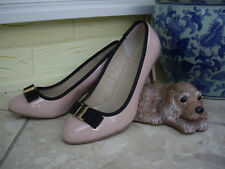 SOLE DIVA NUDE BLUSH PINK SHOES SOLE DIVA COURT SHOES BLACK BOW STILETTO HEEL 6