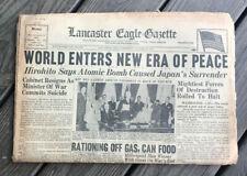 Vintage Lancaster Eagle Gazette August 15, 1945 - 24 Pages WWII - ERA OF PEACE