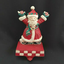 Vintage Mary Engelbreit Midwest Christmas Stocking Holder Santa Claus Cast Iron