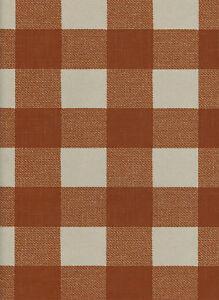 York Buffalo Check Wallpaper  in Rust and Cream  per Double Roll   LL4778