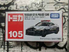 TOMICA #105 NISSAN GT-R POLICE CAR 1/62 SCALE NEW IN BOX