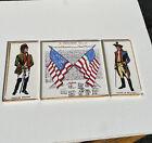 Lot of 3 Pilkington Tiles Vintage Rare England American Flag Congress 1776 As Is